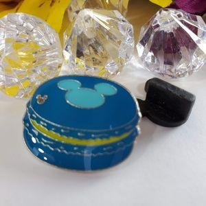 2/$18 Disney Hidden Mickey Blue Macaroon Pin